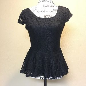 Self Esteem black lace top